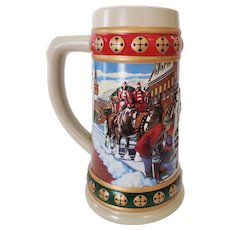 1993 Budweiser Hometown Holiday Stein