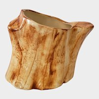 Cash Family Pottery Tree Stump Mug or Planter