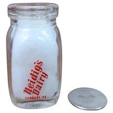 Vintage Individual Cream Bottle Neidig's Dairy Milk Sunbury PA