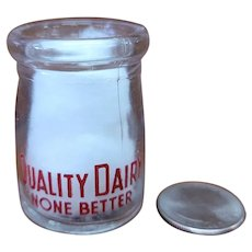 Vintage Individual Cream Bottle Quality Dairy None Better Milk Creamer