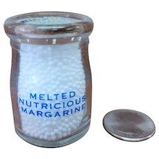 Vintage Individual Cream Bottle Melted Nutricious Margarine Milk Creamer