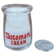 Vintage Individual Cream Bottle Tastemark Cream Dairy Milk