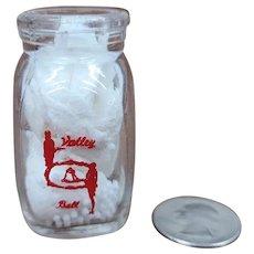 Vintage Individual Cream Bottle Valley Bell Dairy Milk Creamer