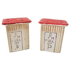 Vintage Outhouse Salt & Pepper Shakers C I'm Full of P