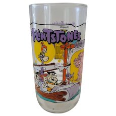 1991 Hardee's Flintones Collector Glass - Going To The Drive In