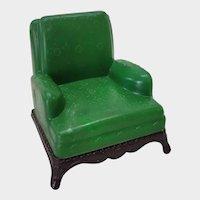 Renwal Green Plastic Dollhouse Armchair L-76