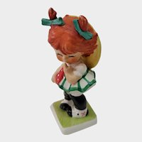 Hummel Goebel Little Miss Coy Red Headed Girl BYJ Figurine