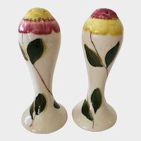 Blue Ridge South Pottery Tall Flower Salt & Pepper Shakers