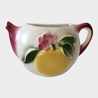 Shawnee Pottery Teapot Wall Pocket With Fruit