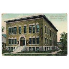 ca 1910 YMCA Building Oswego NY New York Postcard Made In Germany