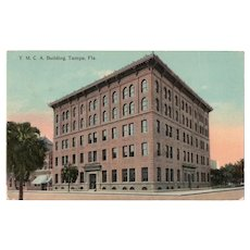 1914 YMCA Building Street View Tampa Fla Florida Postcard