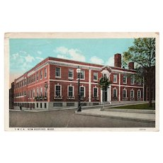 1928 CurTeich YWCA New Bedford Massachusetts MA Postcard Red Washington 2c Stamp