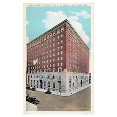ca 1920 Down Town YMCA Building St Louis MO Missouri Street View Postcard