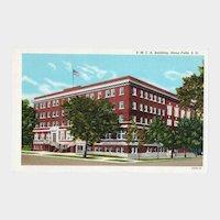 ca 1940 Curteich YMCA Building Sioux Falls SD South Dakota Street View Postcard