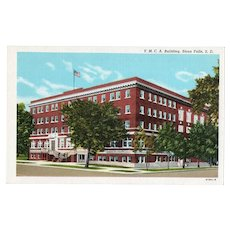 ca 1940 Curteich YMCA Building Sioux Falls SD South Dakota Street View Postcard
