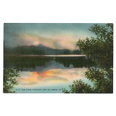 1940s Sunset on Lake Chocorua White Mts NH New Hampshire Postcard