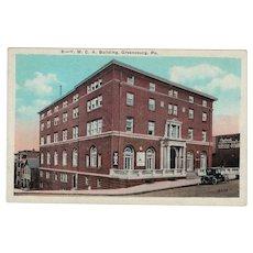 1925 YMCA Building Amsterdam NY New York Street View Postcard