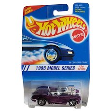 Hot Wheels Car 1995 Model Series #3 of 12 1958 58 Corvette Coupe # 341