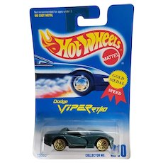 1991 Hot Wheels Car Dodge Viper RT 10 # 210 Hunter Green