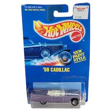 1991 Hot Wheels Car 1959 59 Cadillac Lilac Purple # 266