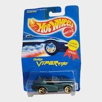1991 Hot Wheels Car Dodge Viper Rt 10 3 Spoke Wheels # 210 Hunter Green