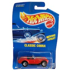 1991 Hot Wheels Car Classic Cobra Red w/ Yellow Stripes # 31