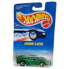 1991 Hot Wheels Car Jaguar XJ220 Bright Green # 445
