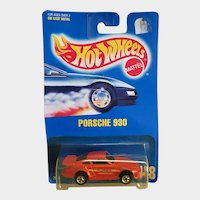 1991 Hot Wheels Car Porsche 930 Red # 148