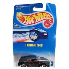 1991 Hot Wheels Car Ferrari 348 Black # 443
