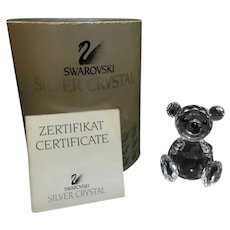 Swarovski Crystal Small Sitting Teddy Bear Figurine A7664