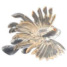 Swarovski Crystal Lion Fish Figurine A 7644 NR 000 008