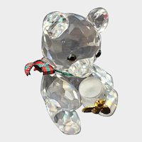 Swarovski Crystal Kris Bear With Honey Pot