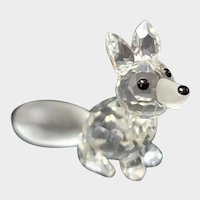 Swarovski Crystal Mini Sitting Fox 7677