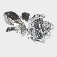 Swarovski Crystal Rose Flower Figurine Secret Garden