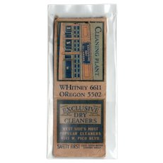 1930s Cleaning Plant Dry Cleaners Pico Blvd Los Angeles ? CA Matchbook Cover