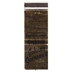 Vintage Johnny Garneau's Smorgasbord Restaurant Cleveland OH Matchbook Cover