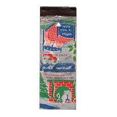 Vintage Park G Dunigan Realtors Cincinnati OH Seasons Greetings Matchbook Cover