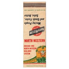 Vintage North Western Railroad Railway System Matchbook Cover Train RR Chicago