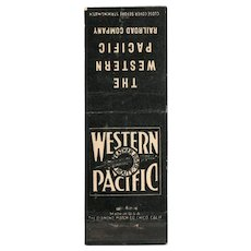 Vintage Western Pacific Railroad Feather River Matchbook Cover Train Railway