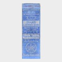 1930s Merchant's Line Printed Necessities Matchbook Cover