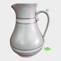 "Antique Victorian Ashworth Brothers Pottery 10"" Pitcher"