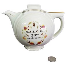 1998 NALCC Hall Autumn Leaf Jewel Tea 20th Anniversary Teapot