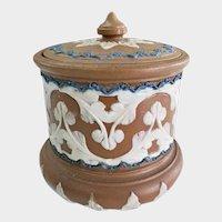 Royal Doulton Lambeth Silicon Ware Tobacco Jar w/ Lid