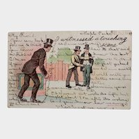 1907 Undivided Back I Witnessed A Touching Scene Vintage Postcard Pickpocket