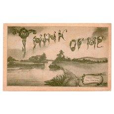 1908 Think of Me Vintage Greetings Postcard
