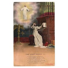 1911 The Lost Cord Bamforth's Vintage Religious Postcard