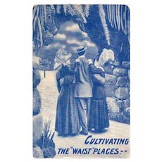 "1911 Cultivating The ""Waist"" Places Vintage Postcard"