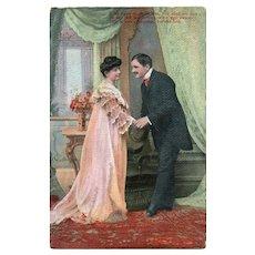 Ca1910 Vintage Romantic Postcard With A Poem