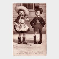 1908 Sheahan's You're The Only Girl I Ever Loved But I Can't Keep Telling You So ALL The Time Vintage Humor Postcard