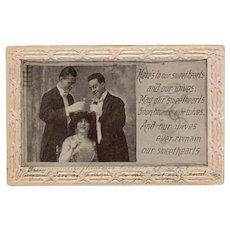 1912 Sweethearts & Wives Poem Vintage Romantic Postcard